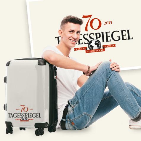 Koffer als Werbeträger