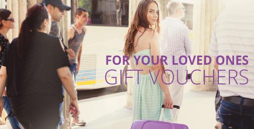Suitcase gift vouchers
