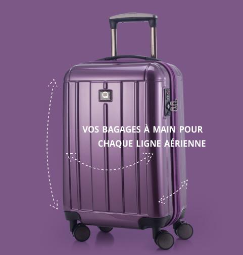 les bagages à main pour chaque aérienne