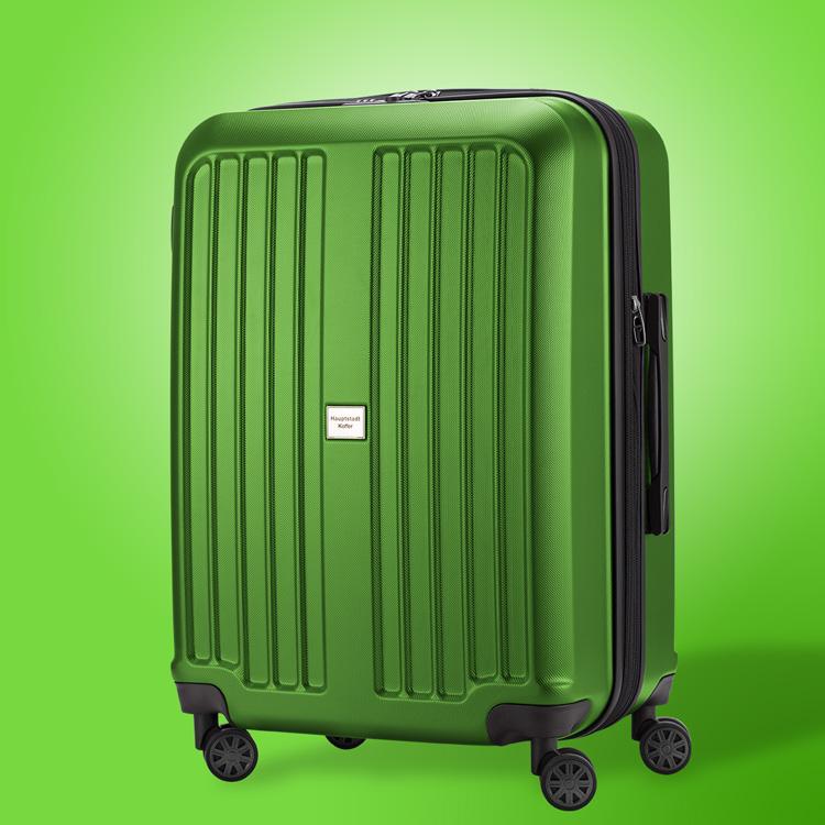 Hauptstadtkoffer X-Berg in grün mit 4 Leichtlauf-Rollen und Dehnfalte für hohes Packvolumen, Material Hartschale