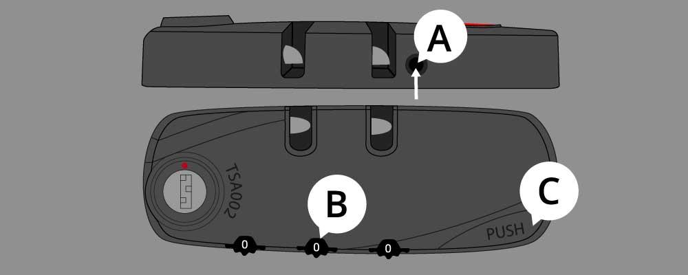 Hauptstadtkoffer TSA-Zahlenschloss
